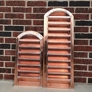 Arch Top Copper Louver - Back View
