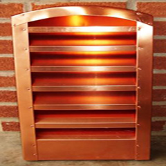 Copper Arch Top Louver