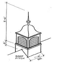 Bell Top Cupola Dimensions