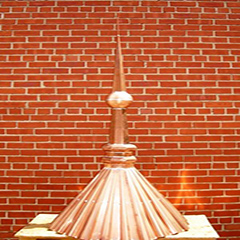 Copper Chicago round Ball Finial