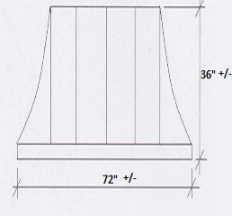 Copper Door Awning Dimensions