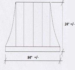 Copper Window Awning Dimensions