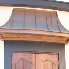 Large Copper Door Awnings