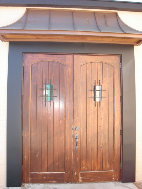 Copper Door Awning