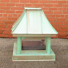 French Curve Patina Copper Chimney Cap