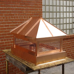 Hip Roof Copper Chimney Caps