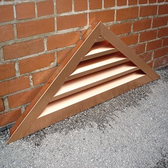Triangle Copper Louver Wall Vent