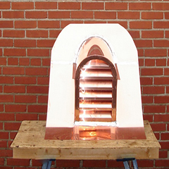 Copper Tombstone Roof Vent