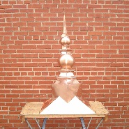 Crown Copper Finial