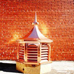 Curve Top Copper Octagonal Cupola