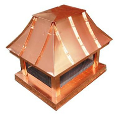 French Curve Copper Chimney Cap