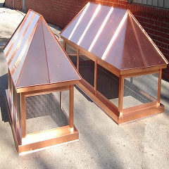 Hip Roof Copper Chimney Cap