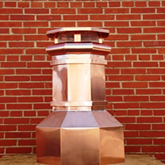 Octagonal Base Copper Chimney Pot