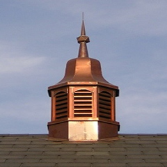 Copper Bell Top Cupola Octagon