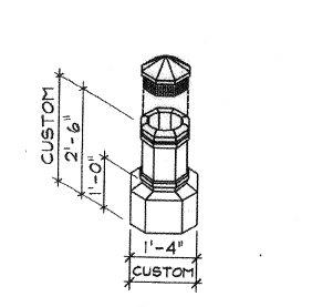 Octagonal Base Copper Chimney Pot Dimensions