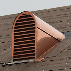 Tombstone Copper Dormer Roof Vents