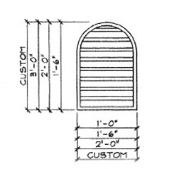 Tombstone Louver Dimensions