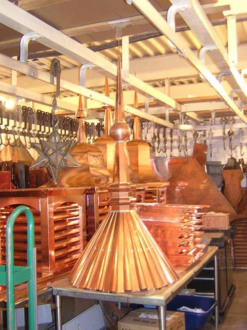 Turret Copper Finial in Shop