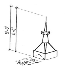 Finial Turret Dimensions