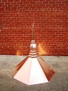 Copper Bee Hive Turret Finial