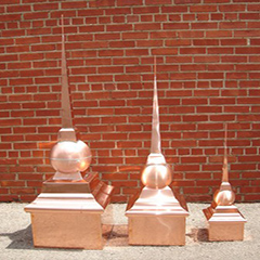 Classic Ball Finials Copper