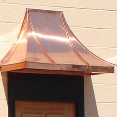 Delicieux Small Copper Door Awnings