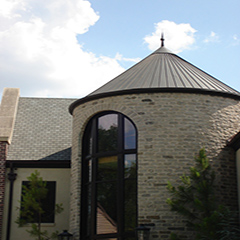 Custom Turret Copper Roof