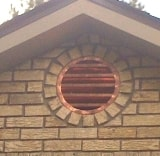 Round Copper Louver