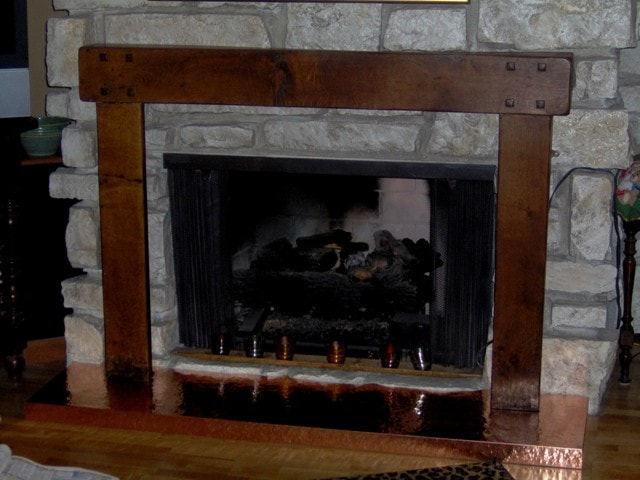 Custom Copper Hearth