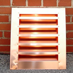 Copper rectangular louver copper