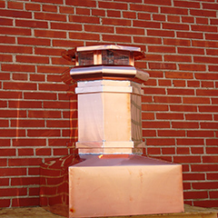 Square Base Copper Chimney Pot